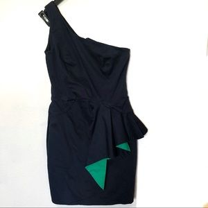 French Connection one shoulder cocktail dress